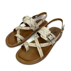 Patricia Nash Fidella Ivory Ankle Strap Sandals